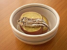 ふかし芋&塩辛
